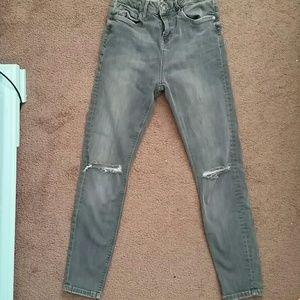 Topshop jamie great ripped skinny jeans